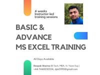 Microsoft Excel Training Course in London - £30 Online & Face-2-Face Classes available