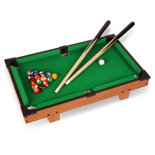 "20"" Mini Table Top Pool Table Game Billiard Set Cues Balls G"