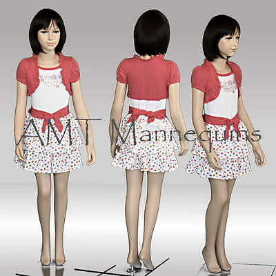 Child Girl Boy Mannequindispay Manequin Hand Made Fiber Glass Manikin- Trey