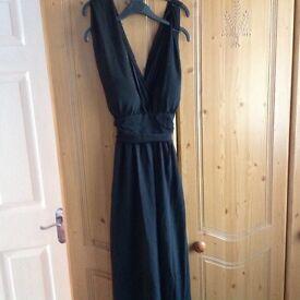 Ladies dress black maxi