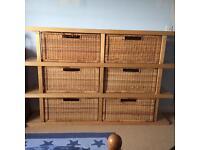 Ikea shelving / storage unit and 6 baskets