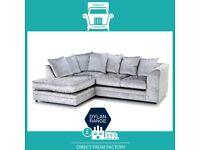 😹4You New💀2 Seater £169 3 Dylan £195 3+2 £295 Corner Sofa £295-Crushed Velvet Jumbo Cord Brand🧍