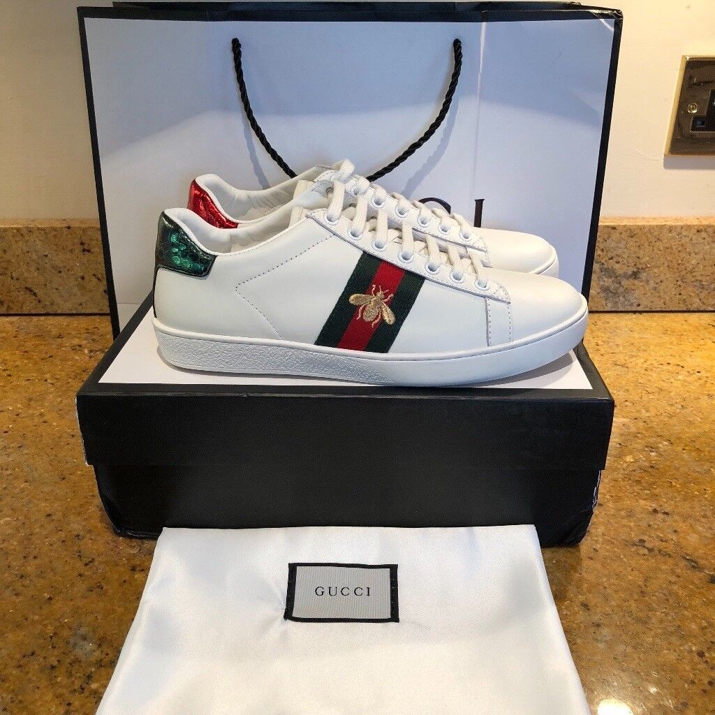 a6985abcd89 Gucci Ace Sneakers White Bee Snake Tiger Trainers all sizes and models
