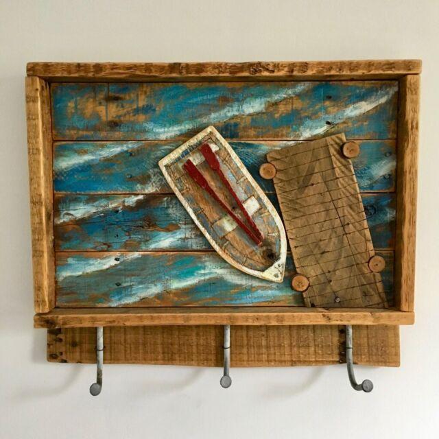Reclaimed Wood Bathroom Hooks Towel Rack Shelf Wall Art Nautical Theme In Newcastle Tyne And Wear Gumtree