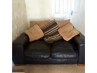 2 two seater leather sofas