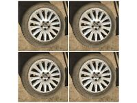 "225-50-17"" Volvo Alloy Wheels and Tyres Set of Four"