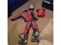 Full kids motocross suit.