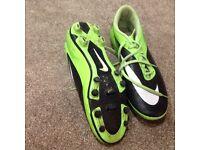 Pair of men's Nike hypervenom football boots size 10