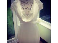 Romantica of Devon - Ivory Wedding Dress Size 12 RRP £500