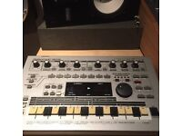 Roland MC 303 (sounds like jupiter, and juno synths, 505 and 808 and 909 drum machines)
