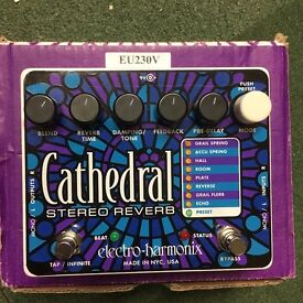 Electro Harmonix Cathedral stereo reverb guitar pedal