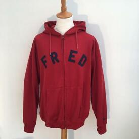 Men's Retro Fred Perry hoodie.