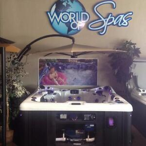 """""""You're Not Cheap, You're Thrifty!""""    Refurbished Hot Tubs Starting at $2995 Only at World of Spas"""