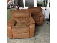 2 Reclining Arm Chairs