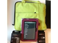 KINDLE FIRE HD TABLET 16gb WITH NEW ACCESORIES
