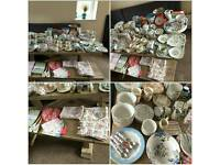 Cath kidston huge kitchen collection mugs, plates, dishes, jugs, teapot, scales etc