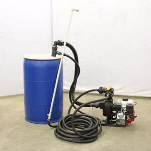 New Asphalt Driveway Sealing Unit Spray Direct from 55 Gallon Drum Barrel Sealcoating Sprayer Parking Lot Maintenance