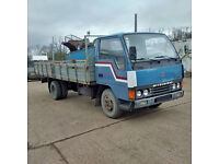 Left hand drive Mitsubishi Canter FE331 3.3 diesel 6 tyres 3.5 Ton truck.