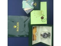 Rolex Daytona complete watch box sets with bleak face black bezel silver strap