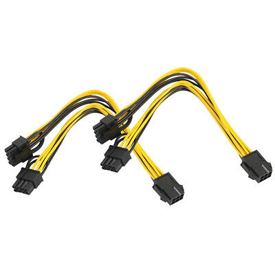 2x PCI Express 6 Pin auf Dual 8 Pin(6+2) Grafikkarten Stromanschlusskabel