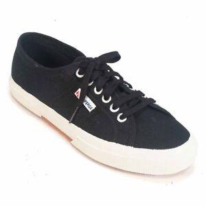 vendita calda online a444f 8eb4b Superga 2750 COTU Classic Black Unisex Fashion Sneaker Size 38 M