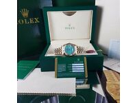New Mens bagged gold jubilee Bracelet blue mother of pearl dial automatic sweeping Rolex datejust wa