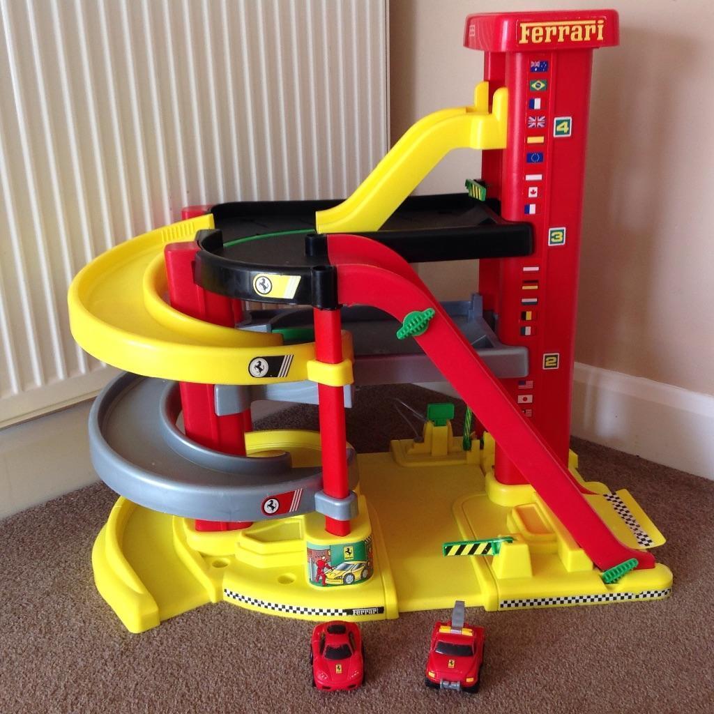 Parking Garage Prices: Large FERRARI Toy Garage By Fisher Price - Rare