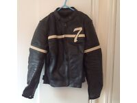 Two piece motorcycles leathers black