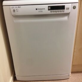 Table Top Dishwasher Hertfordshire : White HOTPOINT dishwasher with FREE dishwasher tabs, salts and liquid