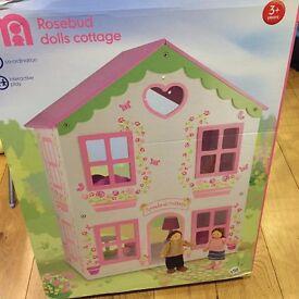 NEW BOXED MOTHERCARE ROSEBUD COTTAGE DOLLS HOUSE IDEAL GIFT PRESENT TEDDINGTON