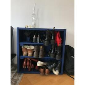 Upcycled wood shoe box