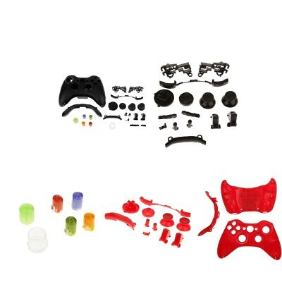 MagiDeal Full Housing Case Shell+Button Keys Mod Kit for Xbox 360 Red Black, used for sale  Shipping to Canada