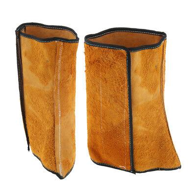 1 Pair Welder Spats Welding Shoe Cover Heat Resistant For Welders Cowhide