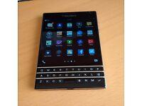 BlackBerry Passport SmartPhone (excellent condition, black, unlocked)