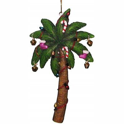 Chesapeake Bay Decorated Holiday Palm Tree Resin Hanging Ornament Palm Resin Ornament