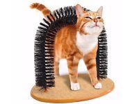 Cat Kitten Massager Massaging PET Arch Self Grommer Gromming Bristles Scratching