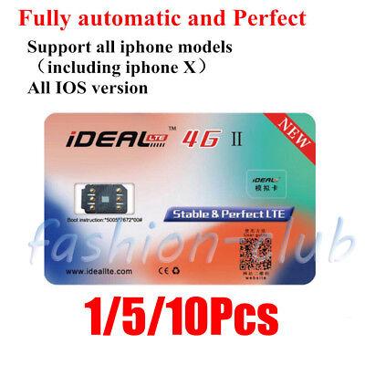 5 10Pcs Ideal Ii Turbo Unlocking Sim Card Gpp For Iphone 8 7 6S Se 5C Ios 11 Lot