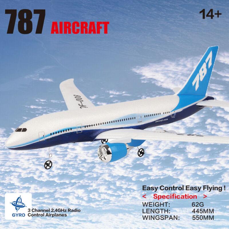 QF008 B787 2.4G 3CH Glider Wingspan 6-Axis Gyro w/ Light Bar