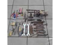 Various Tools and Vice Heavy Duty No3 by Record Engineering - Shed Clearance