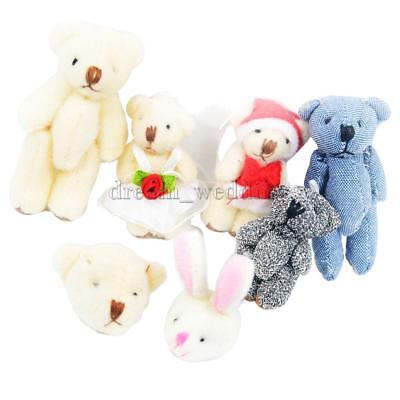 7pcs gemischt niedlichen Mini Bär Plüschtier Puppe Plüsch Stofftier
