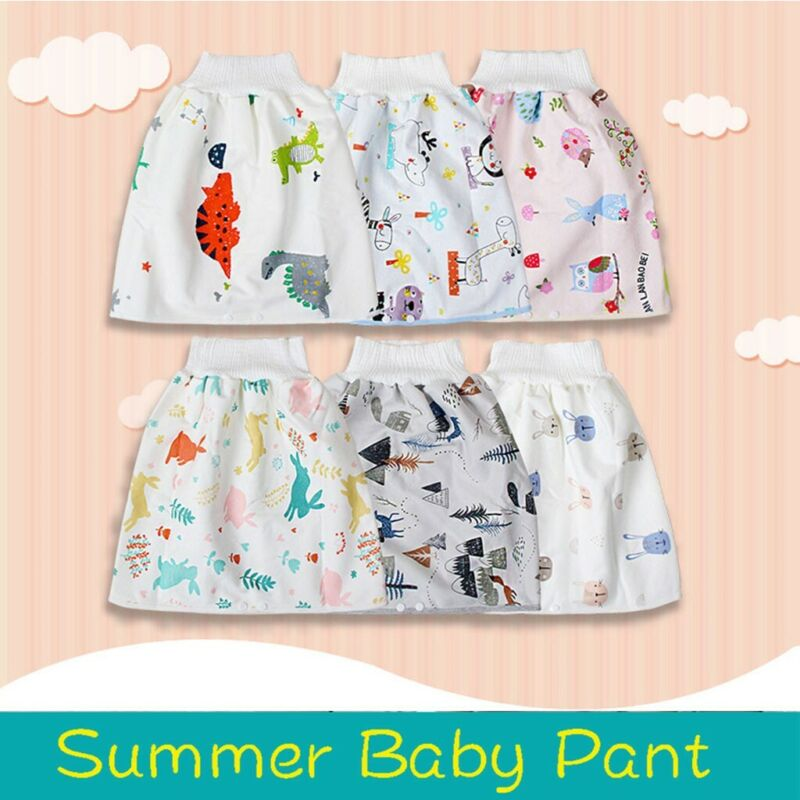 как выглядит Children Diaper Skirt Shorts 2 in 1 Waterproof and Absorbent Anti-Mosquito Pants фото