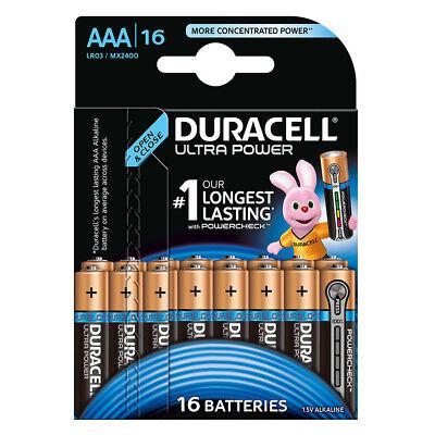 kQ Duracell AAA Ultra Power Batterien Alkaline Micro MX2400 LR03 16er Blister
