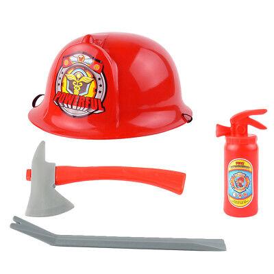Feuerwehrmann Helm mit Pretend Play Tools Halloween Kostüm Set für Kinder