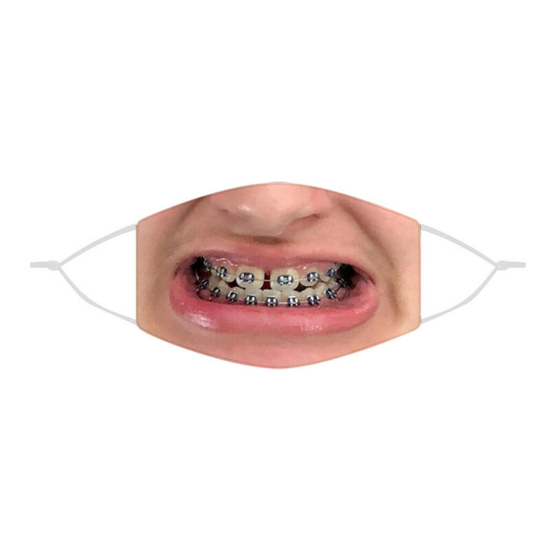 3D-Print Funny Face Protective Adult-Unisex