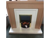 BRAND NEW FULL ELECTRIC FIREPLACE SUITE