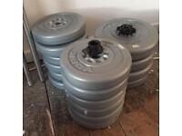 York plastic weights 50kg + bar