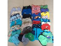 Large bundle of boy's clothes size 12-18 months