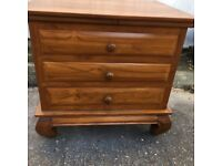 Indonesian teak solid chest of drawers
