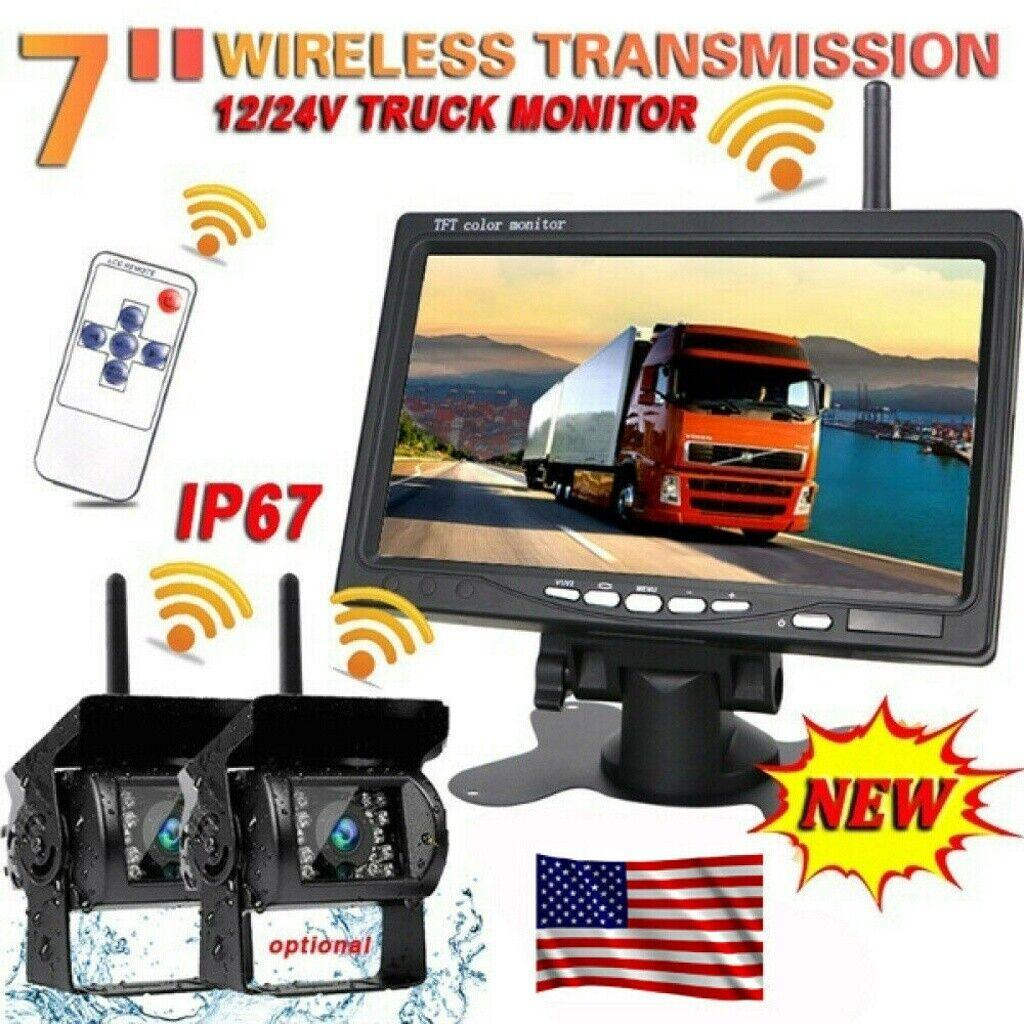 7 monitor 2x wireless rear view backup