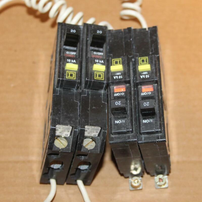 ONE Square D QOB120GFI 1 Pole 20 Amp Circuit Breaker Ground Fault Bolt On
